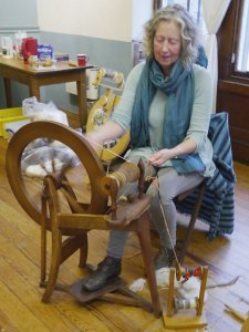 Vicki at the Spinning Wheel