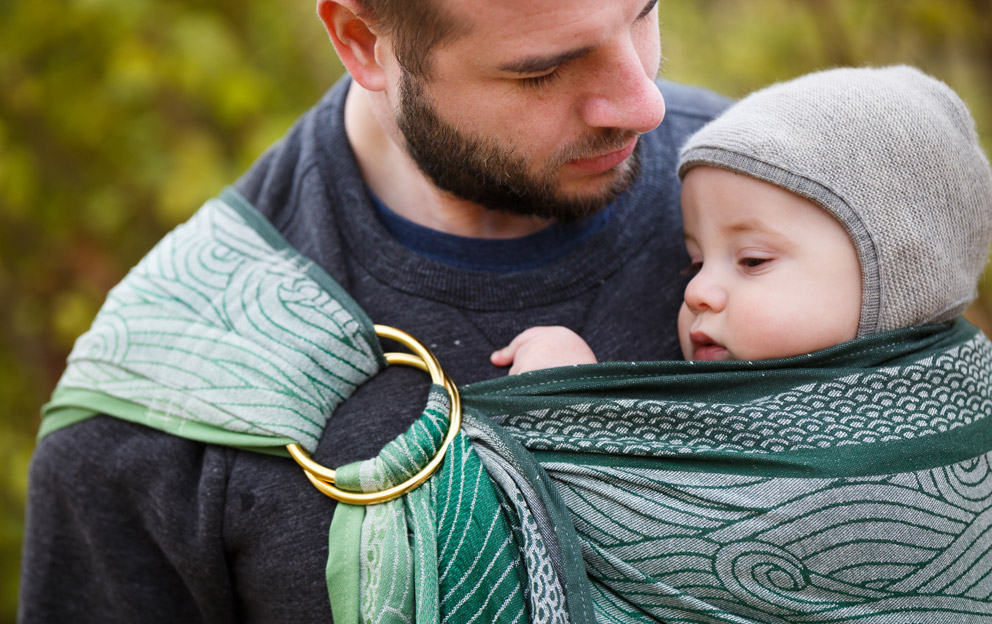 benefits of baby carrying for dads woven ring sling
