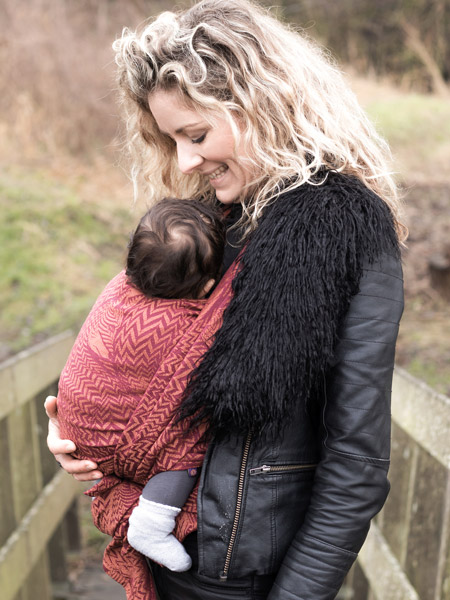 Stylish ethical woven baby slings