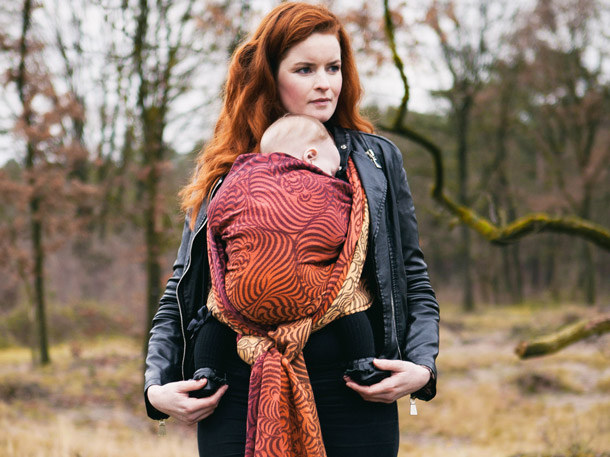 Raja Wilds baby carrier ethically made with Supima cotton in Scotland by Oscha Slings