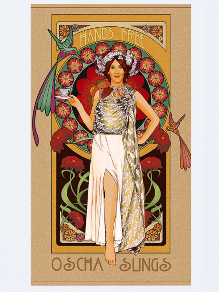Art Nouveau Complete Set of Five Art Print