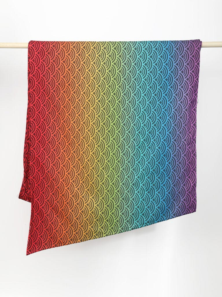 Elle Rainbows Need Rain Shawl