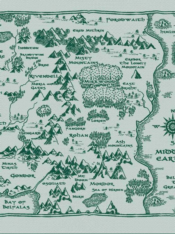 Map of Middle Earth There and Back Again Baby Wrap
