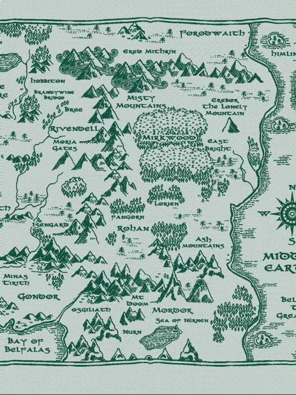 Map of Middle Earth There and Back Again Ring Sling