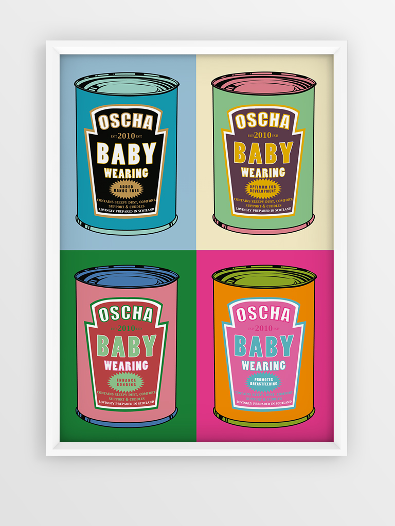 Pop Art Babywearing in a Can Art Print