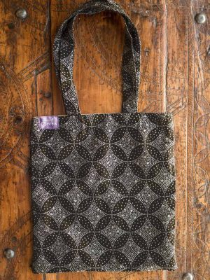 Starry Night Midnight Jacquard Tote