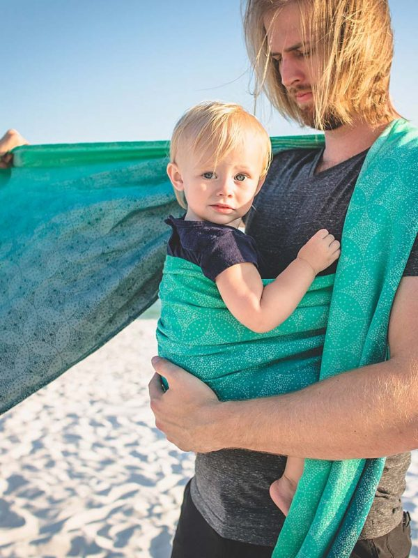 Starry Night Surf's Up Baby Wrap