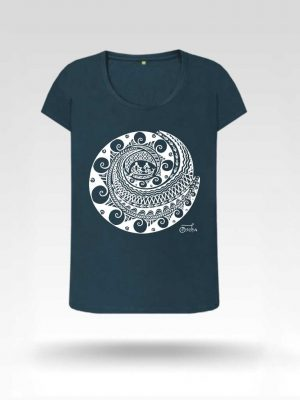 Visayas Organic Cotton Denim Blue T-Shirt