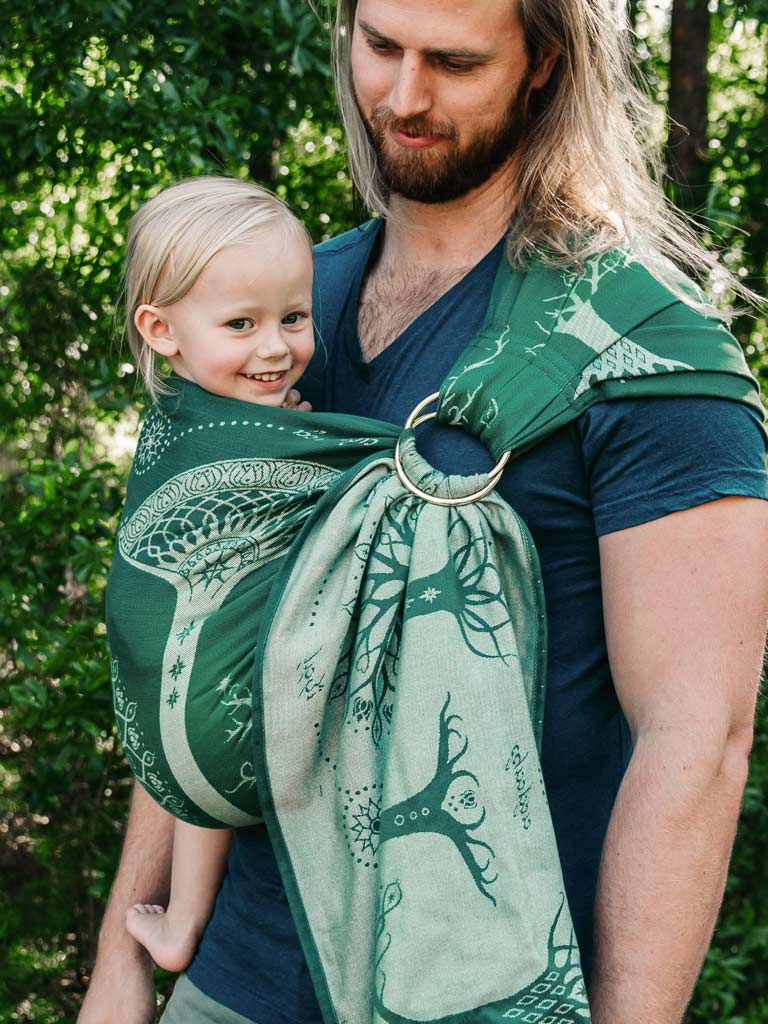 7b0e9324098 Nature Inspired Ring Slings From Oscha Will Take Your Breath Away. Next.  Ancients Of Gondor Lebennin Ring Sling Grade 2 Oscha Slings