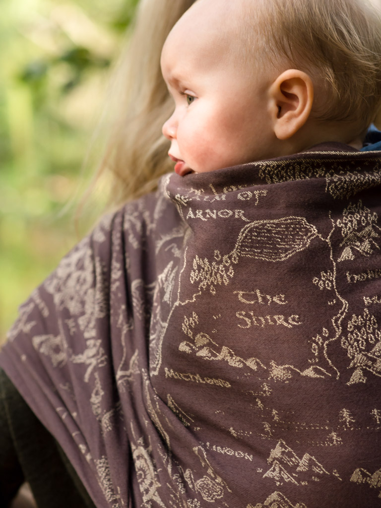 Map of Middle Earth Scroll Baby Wrap