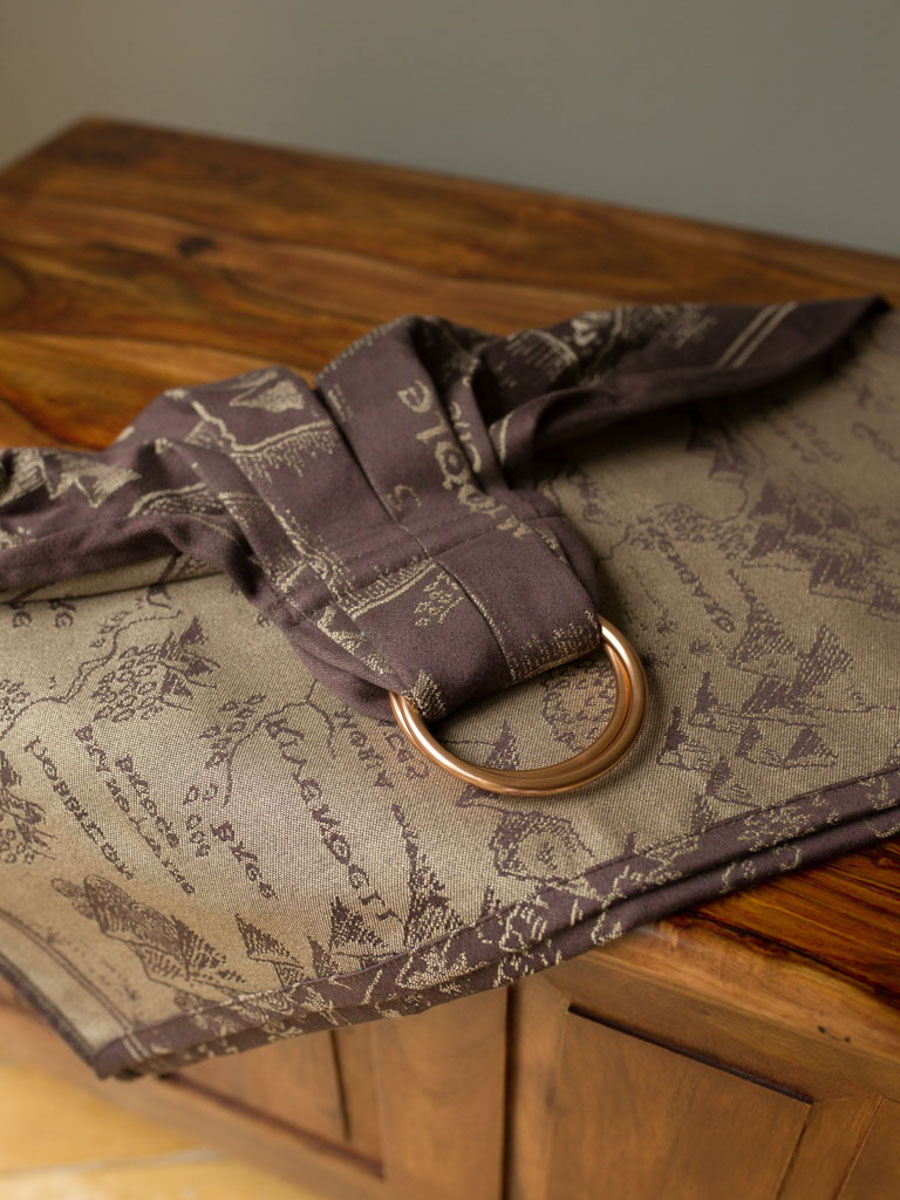 Map of Middle Earth Scroll Ring Sling