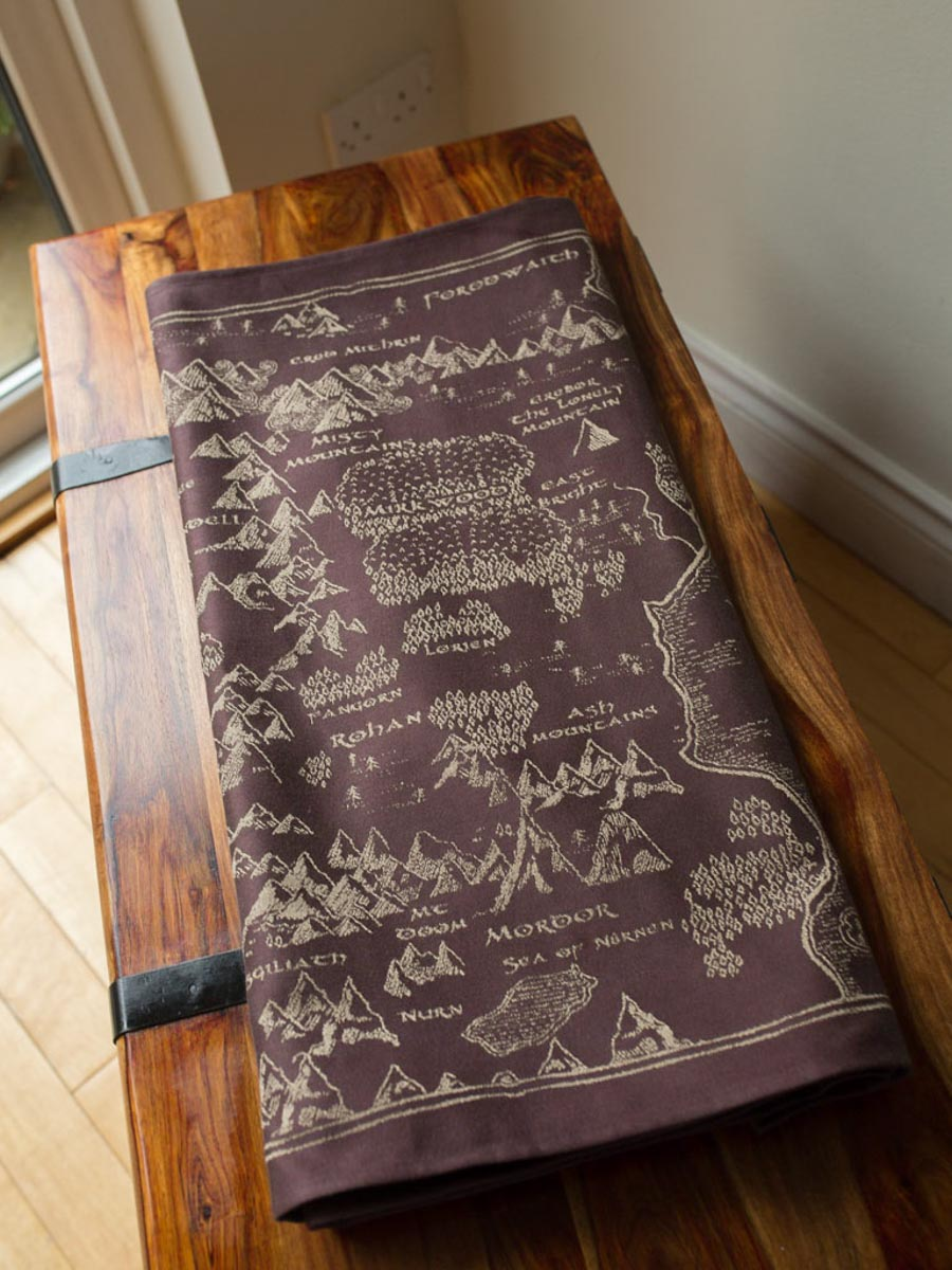 Map of Middle Earth Scroll Shawl