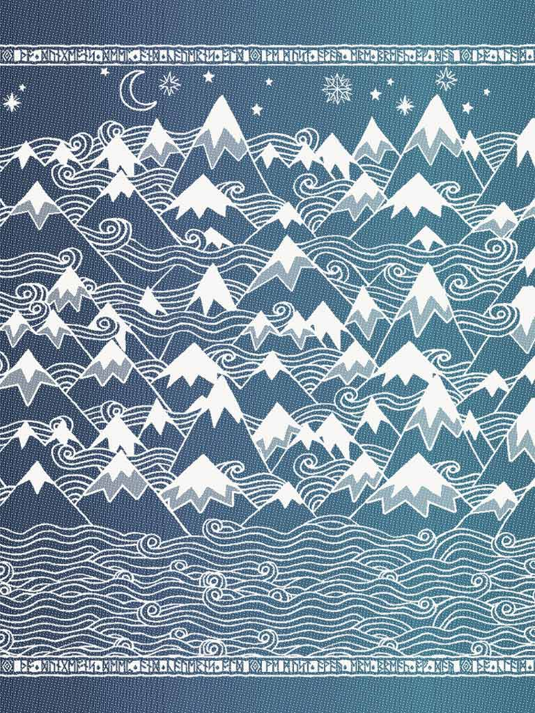 Misty Mountains Frost Throw