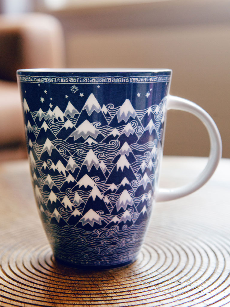 Misty Mountains Indigo Mug