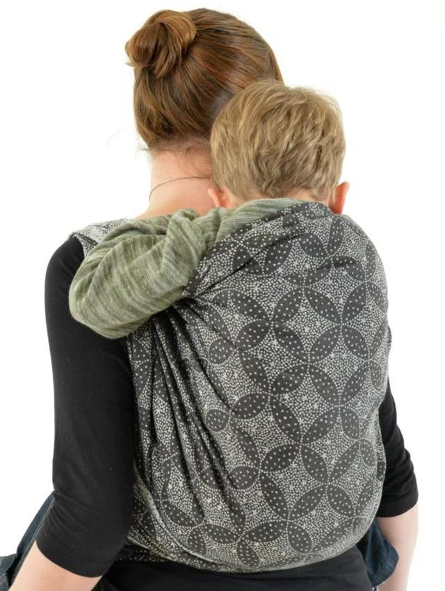 Starry Night Midnight with bamboo Baby Wrap