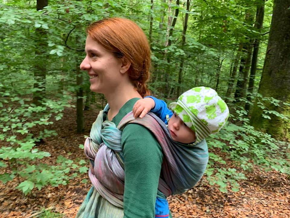 Babywearing with your Rainbow Baby